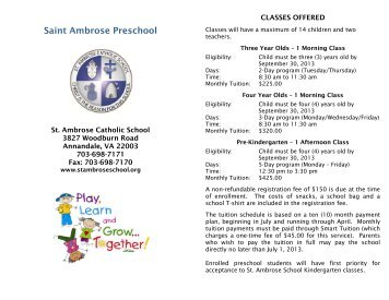 st ambrose preschool because they hear their 116