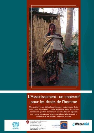 L'Assainissement : un impératif pour les droits de l'homme - WaterAid