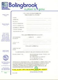 Tree Removal Permit Application & Information - Bolingbrook