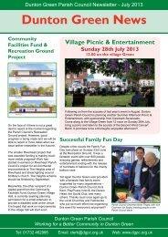 July 2013 - Dunton Green Parish Council