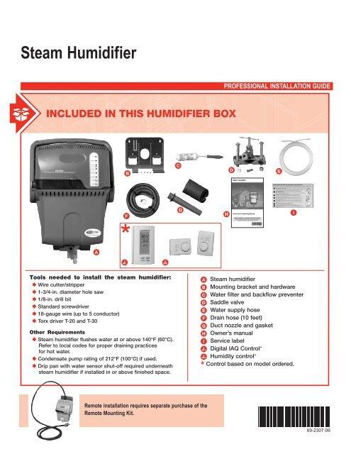 hartell condensate pump wiring diagram 69 2307 06 steam humidifier rheemote net  69 2307 06 steam humidifier