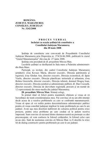 Proces verbal Sedinta de constituire - Consiliul Judetean Maramures