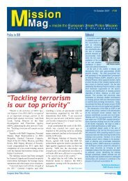 mission mag 28.qxp - European Union Police Mission in Bosnia and ...