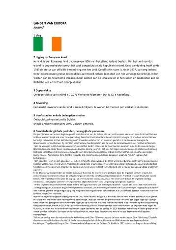 LANDEN VAN EUROPA Ierland - jansimons.nl