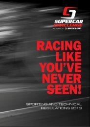 general / sporting and technical regulations 2013 - Supercar ...
