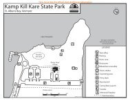 Kamp Kill Kare State Park Map & Guide (pdf) - Vermont State Parks