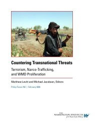 Countering Transnational Threats - The Washington Institute for ...