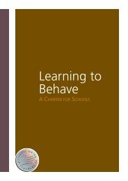 Learning to Behave - National Union of Teachers