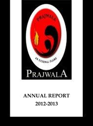 ANNUAL REPORT 2012-2013 - Prajwala