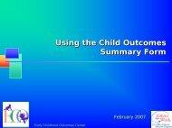Why Collect Outcome Data? - FPG Child Development Institute