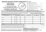 Entry Form - Fosse Data