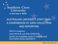 AUSTRALIAN UNIVERSITY STAFF DATA: A COMPARISON OF DATA COLLECTION ...