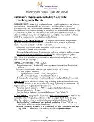 Pulmonary Hypoplasia and Diaphragmatic Hernia