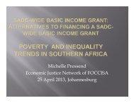 Michelle Pressend Economic Justice Network of FOCCISA 25 April ...
