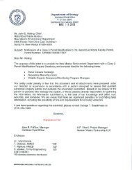 Notification of a Class 3 Permit Modification to the Hazardous Waste ...