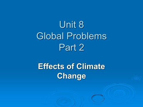 Unit 8 Global Problems Part 2