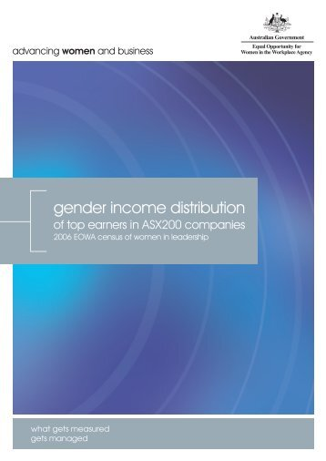 2006 Census - Top Earners Report - The Workplace Gender ...