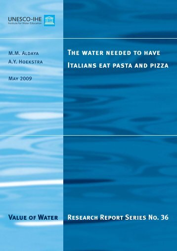 the water needed to have italians eat - Water Footprint Network