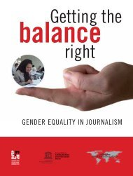 Getting the balance right: gender equality in journalism; 2009 - Fokus
