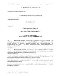 Codigo Procesal Penal de Nicaragua
