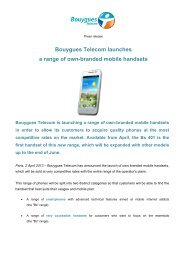 Bouygues Telecom launches a range of own-branded mobile ...