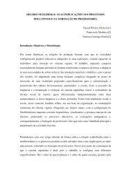IDEÁRIO NEOLIBERAL - Rede de Estudos do Trabalho