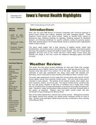 Iowa's Forest Health Highlights - Forest Health Monitoring - USDA ...