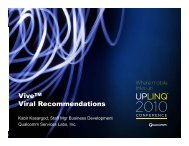 ViveTM Viral Recommendations - Uplinq