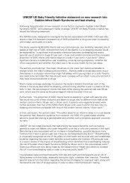 UNICEF UK Baby Friendly Initiative statement ... - Borstvoeding.com