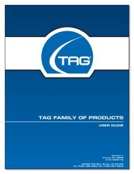 TAG FAmily oF ProdUCTs - TAG.com