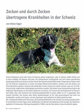 Zecken und durch Zecken übertragene Krankheiten in der Schweiz