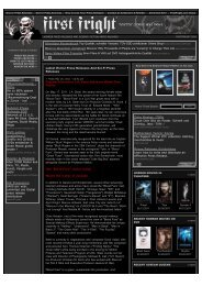 Horror Press Releases and Sci-Fi Press Releases - WARRIOR ...