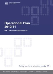 WA Country Health Service Operational Plan 2010/11