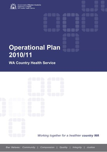 WA Country Health Service Operational Plan 2010/11