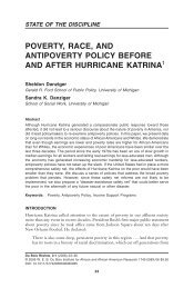 poverty, race, and antipoverty policy before and after hurricane katrina