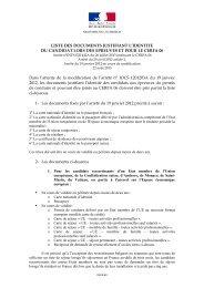 liste des documents justifiant l'identité pc