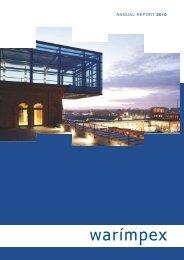ANNUAL REPORT 2010 - Warimpex