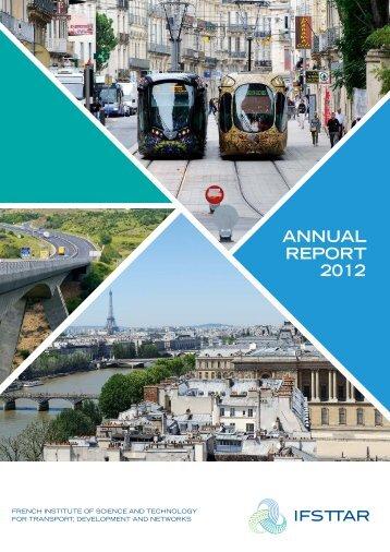 ANNUAL REPORT 2012 - Ifsttar