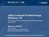 Energy Efficiency - Electricity Market and Policy - Lawrence Berkeley ...