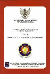 Peraturan Menteri Dalam Negeri Nomor 49 Tahun 2007 tentang ...
