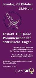 Festakt 150 Jahre Posaunenchor der Stiftskirche Enger