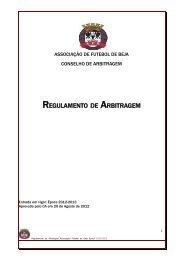 Regulamento de Arbitragem - AFBeja - Associação de Futebol de Beja