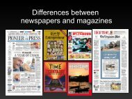 Differences between newspapers and magazines