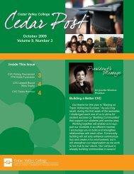 October 2009 Volume 9, Number 3 - Cedar Valley College
