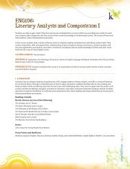 ENG106: Literary Analysis and Composition I - K12.com