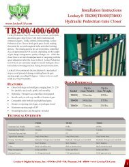 TB200/400/600 - Hoover Fence