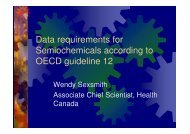 Data requirements for semiochemicals according to ... - REBECA