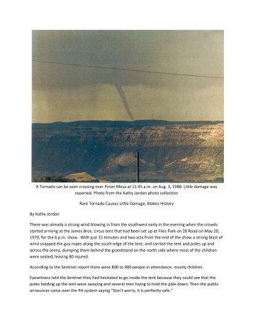 Rare Tornado Causes Little Damage, Makes History