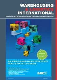 April Issue - Warehousing and Logistics International