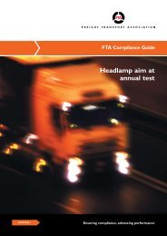 FTA Compliance Guide - Freight Transport Association